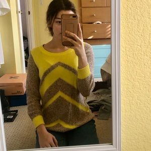 J.Crew Yellow and Brown Sweater